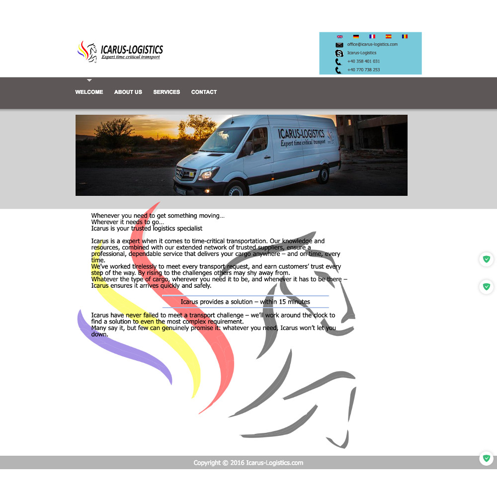 Site WEB firma transport
